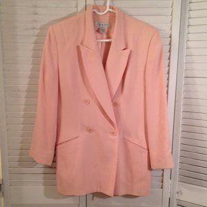Chaus Women's 10 Pink Wool Blazer Coat